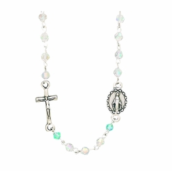 Crystal Glass Beads Rosary Necklace
