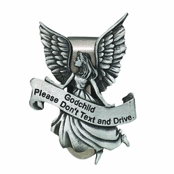Godchild Please Don't Text and Drive Guardian Angel Visor Clip