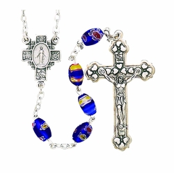 Hand Painted Glass Beads Rosary