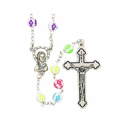 Multi Color Crystal Glass Rosary