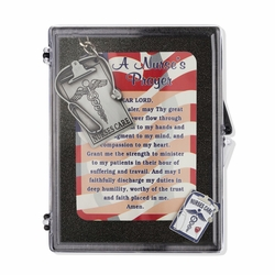 """""""Nurses Care"""" Appreciation Boxed Gift Set-Includes Verse Card, Keychain, and Lapel Pin"""