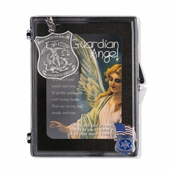 """Police Officer """"Guardian Angel"""" Appreciation Boxed Gift Set-Includes Verse Card, Keychain, and Lapel Pin"""