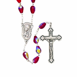 Red Tear Drop Rosary