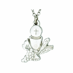 Silver Plated First Communion Eucharist Necklace