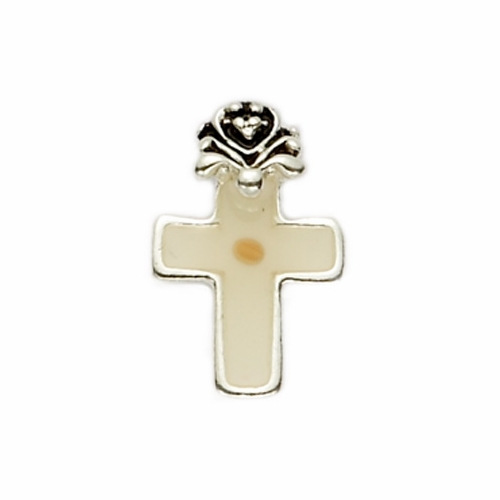 Silver Plated Lapel Pin with Mustard Seed