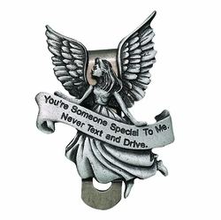 Someone Special Please Don't Text and Drive Guardian Angel Visor Clip