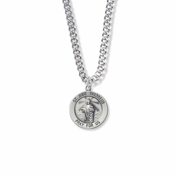3/4 Inch Sterling Silver St. Jude Medal, Patron of Hopeless Causes and Desperation