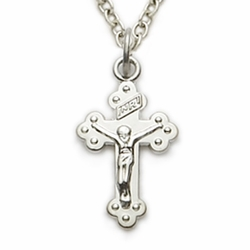 Sterling Silver Baby Crucifix