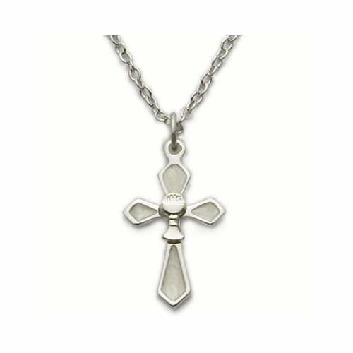 Sterling Silver Cross Necklace with Chalice