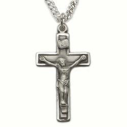 Sterling Silver Engraved Crucifix