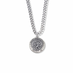3/8 Inch Sterling Silver Sterling St. Christopher Medal, Patron of Travelers