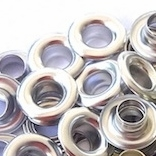 1/4 Silver Eyelets & Washers - 250/bag