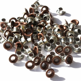 1/8 Eyelets - Brushed Copper