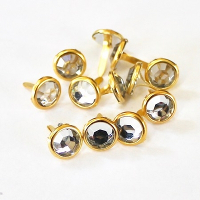 10mm Clear Jewel Brads