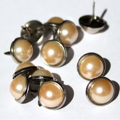 12mm Pearl Brads - Cream - out of stock