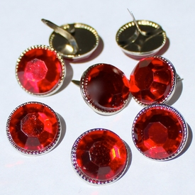 16mm Jewel Brads - Red