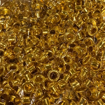 3/16 Anodized Gold Eyelets - Stainless Steel