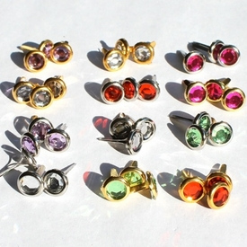 8MM Jewel Brads - Choose Color