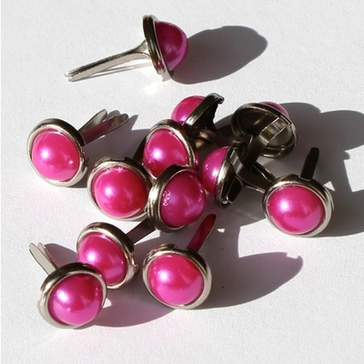 8mm Pearl Brads - Hot Pink - out of stock