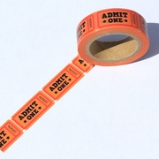 Admit One Ticket Washi Tape