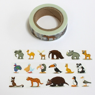 Animal Washi Tape - Elephant & Friends