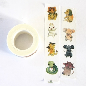 Animal Washi Tape - Vertical