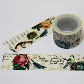 Bird/Flower Washi Tape