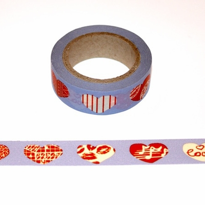Heart - Blue/Red Washi Tape