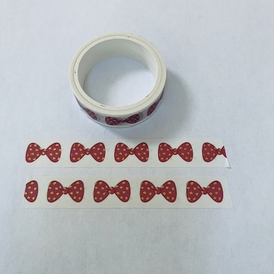 * Bow Washi Tape - Red/White