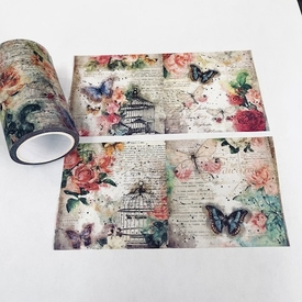 * Butterfly & Bird Cage Washi Tape - Wide