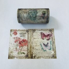 Butterfly & Flowers - Xtra Wide - out of stock