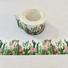 Cactus & Flamingo Washi Tape - Wide