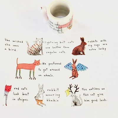 * Cat & Rabbit Washi Tape