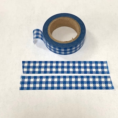 * Checked Washi Tape - Blue