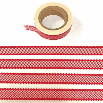 Checked Washi Tape - Red