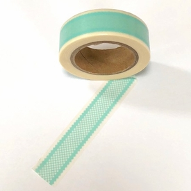 Checked Washi Tape -  Turquoise