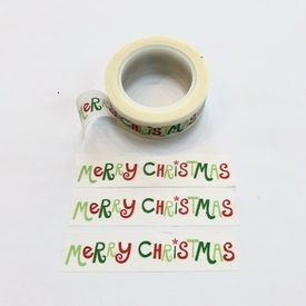 * Christmas Washi Tape - White/Grn/Rd