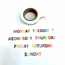 * Days of the Week Washi Tape