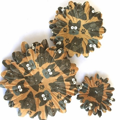 Dog Paper Flowers