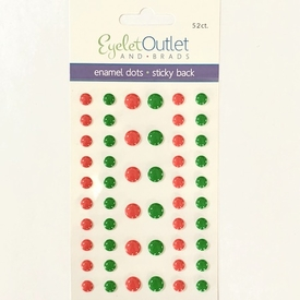 Enamel Dots - Holiday Red/Green