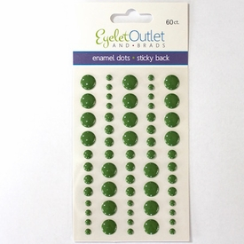 Enamel Dots - Multi Size Green