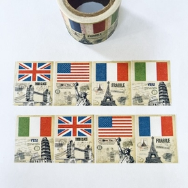 Flag and Icon Washi Tape