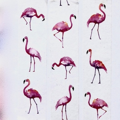 Flamingo Washi Tape - Vertical