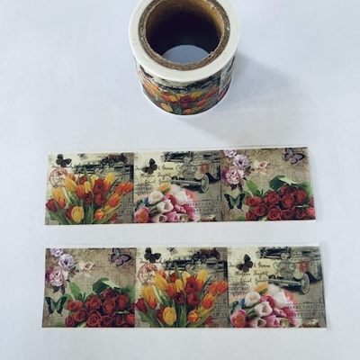* Floral Square Washi Tape