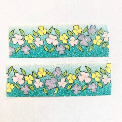 Flower Glitter Washi Tape
