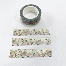 * Flower Gold Foil Washi Tape