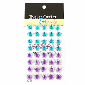 Flower Jewels - Blue/Purple - out of stock