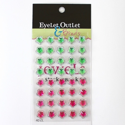 Flower Jewels - Green/Pink