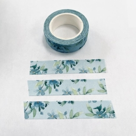 * Flower Shimmer Washi Tape - Blue