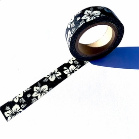 Flower Washi Tape- Black/White